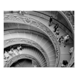 Rome Italy, Vatican Staircase 2 Poster