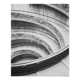 Rome Italy, Vatican Staircase Poster