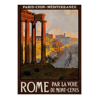 Rome Italy Vintage Travel Poster Ad Retro Prints