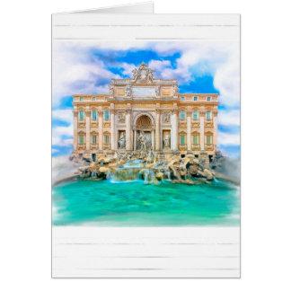 Rome - La Dolce Vita - Trevi Fountain Card