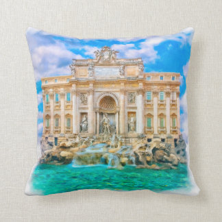 Rome - La Dolce Vita - Trevi Fountain Throw Pillow