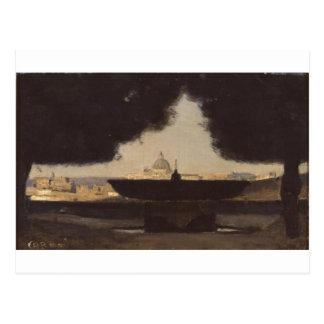 Rome la fontaine de l'Academie De France Cartes Postales