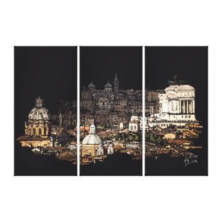 Rome of skyline canvas print