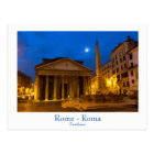Rome - Pantheon at full moon postcard with text