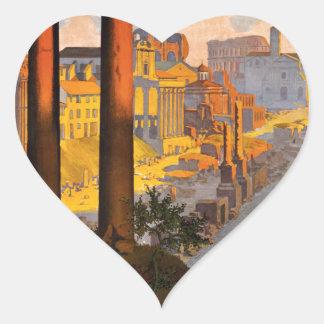Rome par la voie du Mont-Cenis Heart Sticker