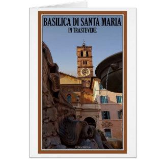 Rome - Santa Maria in Trastevere Card