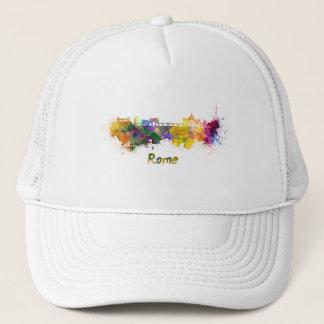 Rome skyline in watercolor trucker hat