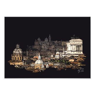 Rome skyline photo print