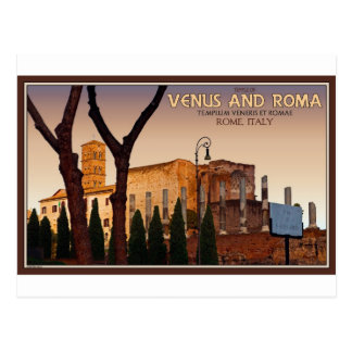 Rome - Temple of Venus and Roma Postcard