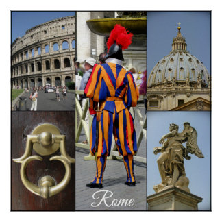 Rome The Eternal City Collage Poster