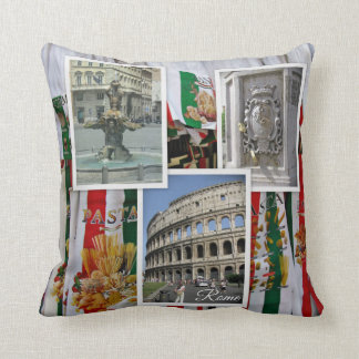 Rome The Eternal City Collage Throw Pillow