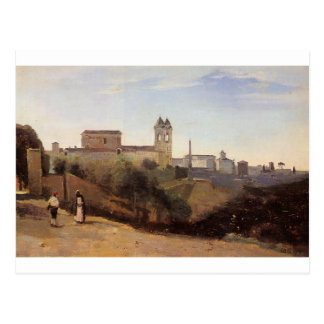 Rome, the Trinita dei Monti View from the Gardens Postcard