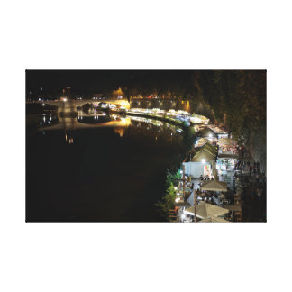 Rome: Tiber by Night Canvas Print