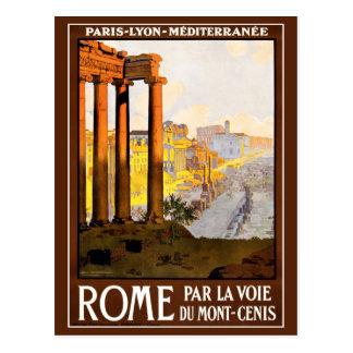 Rome Travel Poster Vintage Postcard
