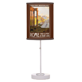 Rome Travel Poster Vintage Table Lamp