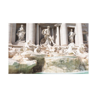 Rome: Trevi Fountain Canvas Print