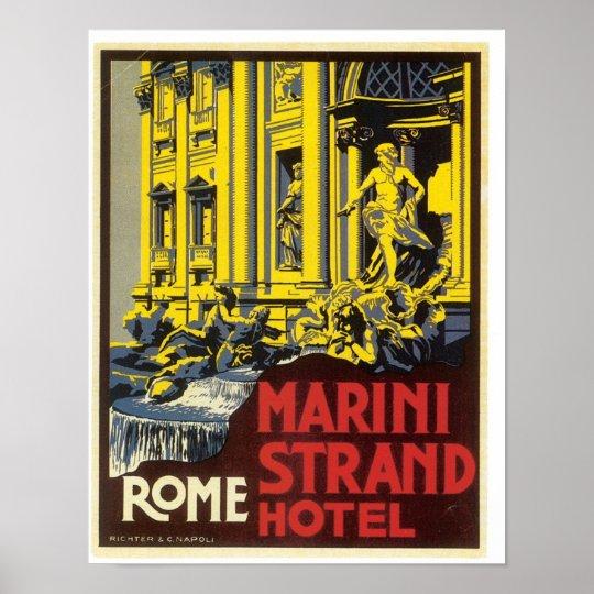Rome Trevi Fountain Poster