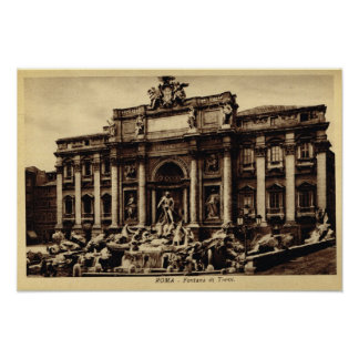 Rome Trevi fountain Poster