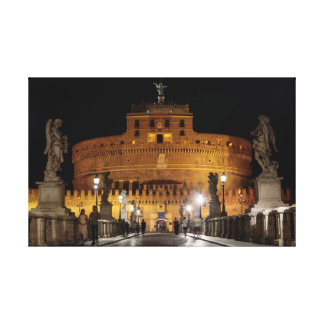 Rome / Vatican: Castel Sant'Angelo by night Canvas Print