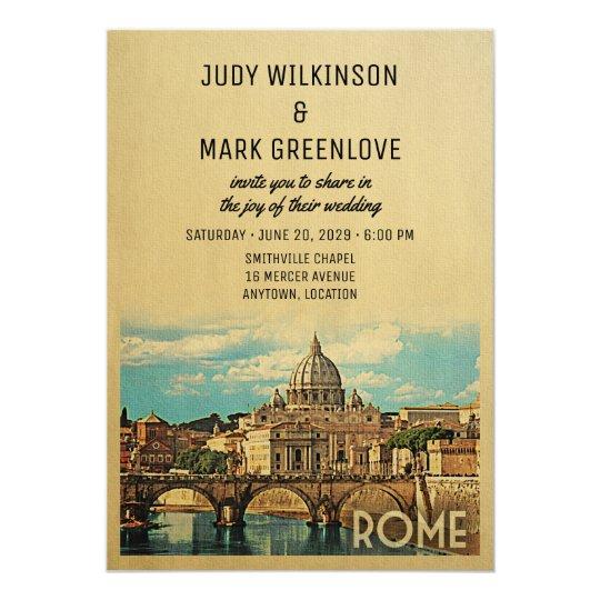Rome Wedding Invitation Italy