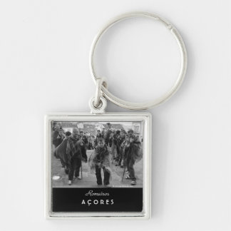 Romeiros pilgrims Silver-Colored square keychain