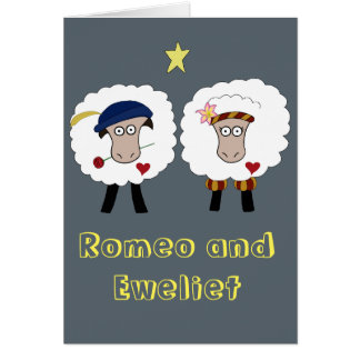 Romeo and Eweliet Blank Greeting Card