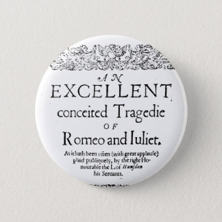 Romeo and Juliet 2 Inch Round Button