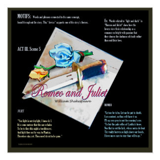 Romeo and Juliet Motifs Perfect Poster