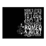 Romeo & Juliet Men Quote Post Card