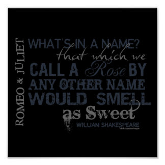Romeo & Juliet Name Quote Poster