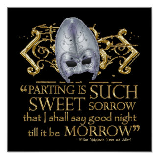 Romeo & Juliet Quote (Gold Version) Poster