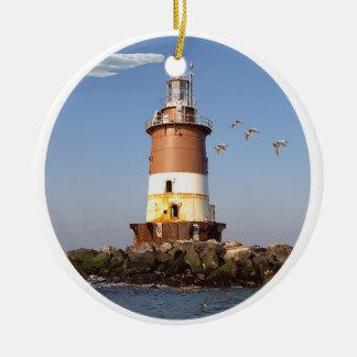 Romer Shoal Lighthouse Ceramic Ornament
