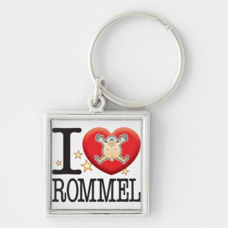 Rommel Love Man Silver-Colored Square Keychain