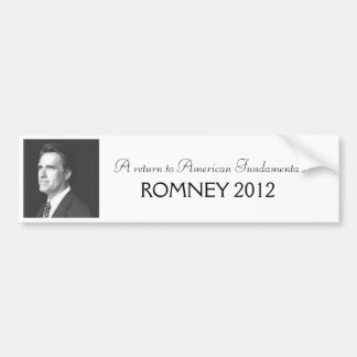 Romney 2012 bumper sticker
