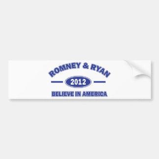Romney and Ryan Believe Bumper Sticker