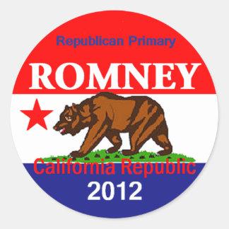 Romney CALIFORNIA Sticker