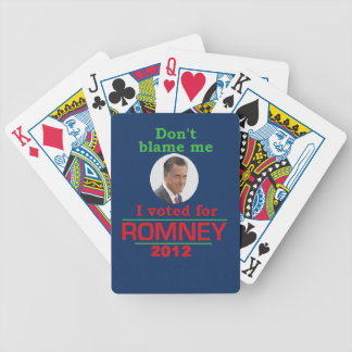 Romney Dont Blame Me Poker Deck