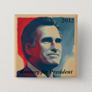 Romney for President 2 Inch Square Button