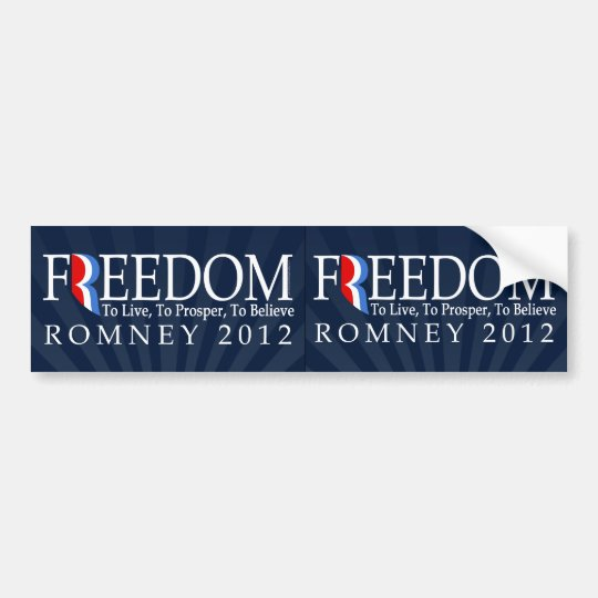 Romney Freedom Car Decal 2/Sheet