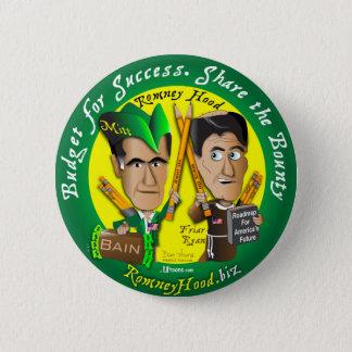 Romney Hood Reduce Deficits 2 Inch Round Button