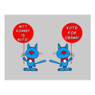 Romney is nuts vote for Obama Postcard