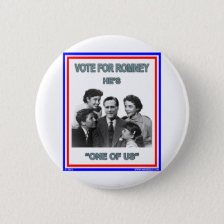 """Romney is """"One of Us"""" FNB 2 Inch Round Button"""