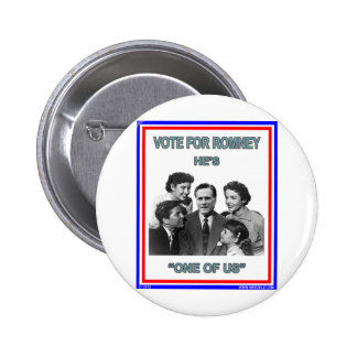 "Romney is ""One of Us"" FNB 2 Inch Round Button"