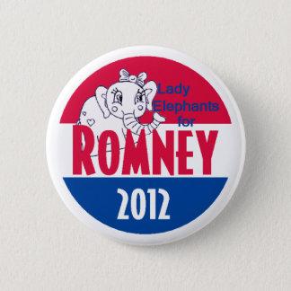 Romney LADY ELEPHANTS 2 Inch Round Button