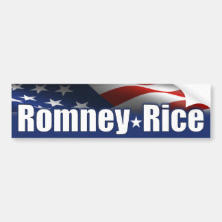 Romney Rice 2012 Bumper Sticker