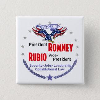 Romney Rubio 2 Inch Square Button
