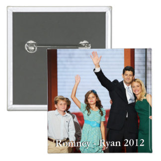 Romney-Ryan 2012!!! 2 Inch Square Button