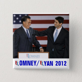 Romney/Ryan 2012 2 Inch Square Button