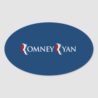 ROMNEY RYAN 2012 BANNER.png Oval Sticker