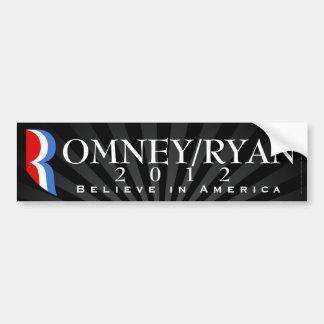Romney/Ryan 2012, Believe in America, Black Decal
